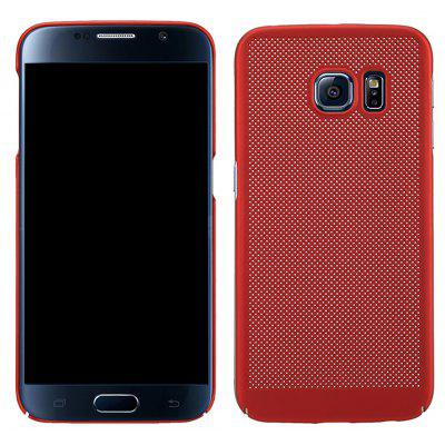 Moda Ultra-Thin Respirável Cooling Mesh Hard Phone Cover para Samsung S6 Edge