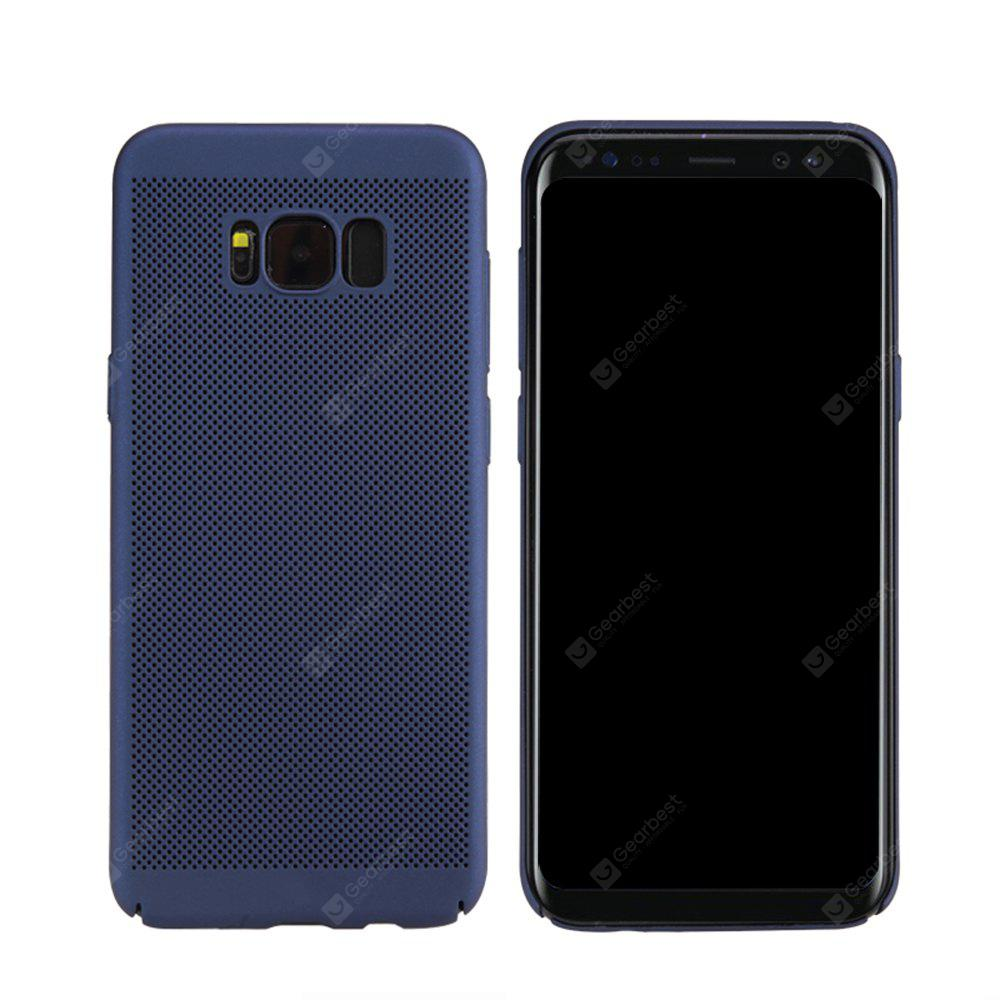 Moda Ultra-Thin Respirável Cooling Mesh Hard Phone Cover para Samsung S8
