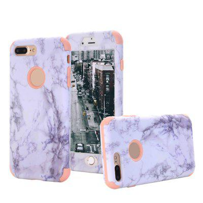 Marble Design Hard Impact Dual Layer Shockproof Bumper Case for iPhone 7 Plus