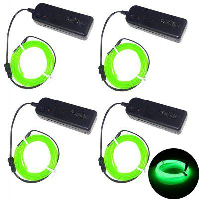 Buy GREEN YouOkLight 3W 5V 3M Flexible Red / Green / Blue Neon EL Wire Light Dance Party Decor Light Batteries not Included 4pcs for $17.82 in GearBest store