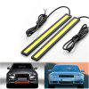 YouOKLight DIY Waterproof 6W COB LED Cool White Daytime Running Light for Car - Black + Yellow 2PCS - COOL WHITE LIGHT