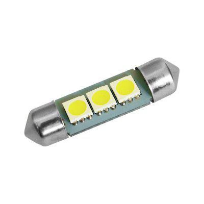 YouOKLight 10PCS 1W 12V Festoon 36mm Cool White LED Car Lamps - Silver + YellowLED Bi-pin Lights<br>YouOKLight 10PCS 1W 12V Festoon 36mm Cool White LED Car Lamps - Silver + Yellow<br><br>Available Light Color: Cold White<br>Car light type: Decorative Lamp<br>CCT/Wavelength: 6000K<br>Connector: No<br>Features: Low Power Consumption, Easy to use<br>LED Qty: 3<br>LED Type: SMD 5050<br>Luminous Flux: 80<br>Package Contents: 10 x Car light<br>Package size (L x W x H): 4.00 x 1.30 x 1.10 cm / 1.57 x 0.51 x 0.43 inches<br>Package weight: 0.0160 kg<br>Sheathing Material: Plastic<br>Voltage (V): 12V<br>Wattage (W): 1