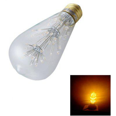 YouOKLight 1PC E27 ST64 3W 47LED Ampoule décorative Blanc chaud