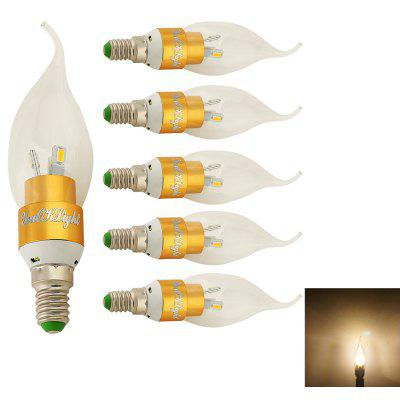 Buy WARM WHITE LIGHT YouOkLight E14 3W LED Candle Bulb Warm White Light 240lm 6-SMD 6PCS for $15.98 in GearBest store