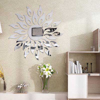 Buy SILVER DIY Sun Mirror Wall Stickers for Wall Decor for $6.66 in GearBest store