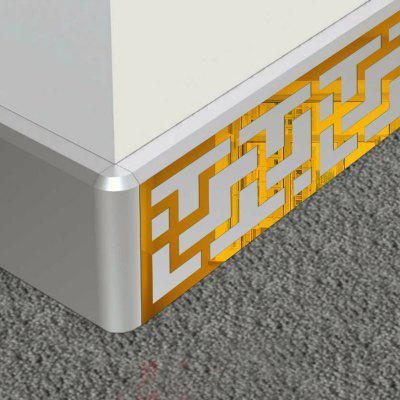 Buy GOLDEN 6pcs DIY Skirting Decor Mirror Wall Stickers for Wall Decor for $6.20 in GearBest store