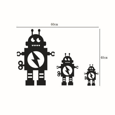 3pcs DIY Robots Mirror Wall Stickers for Wall DecorWall Stickers<br>3pcs DIY Robots Mirror Wall Stickers for Wall Decor<br><br>Function: Decorative Wall Sticker<br>Material: PMMA<br>Package Contents: 1 x Sticker<br>Package size (L x W x H): 40.00 x 15.00 x 2.00 cm / 15.75 x 5.91 x 0.79 inches<br>Package weight: 0.0600 kg<br>Product size (L x W x H): 40.00 x 60.00 x 0.20 cm / 15.75 x 23.62 x 0.08 inches<br>Product weight: 0.0500 kg<br>Quantity: 1 Set<br>Subjects: Cartoon,Mirror<br>Suitable Space: Living Room,Bathroom,Bedroom,Dining Room,Office,Hotel,Cafes,Kids Room,Boys Room<br>Type: Mirror Wall Sticker