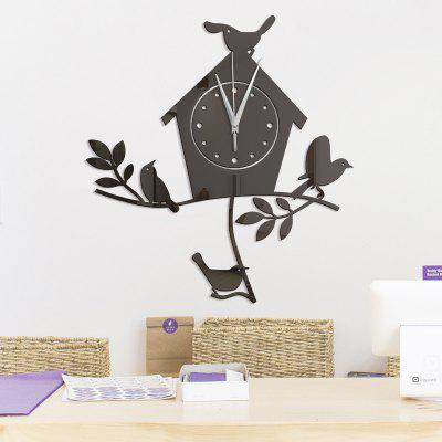 Buy BLACK DIY Bird Nest Acrylic Mirror Wall Stickers Wall Clock Stickers for $10.03 in GearBest store