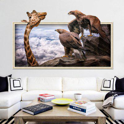 Buy COLORMIX Home Decoration 3D Giraffe Eagle Removable Wall Stickers for Wall Decor for $5.34 in GearBest store