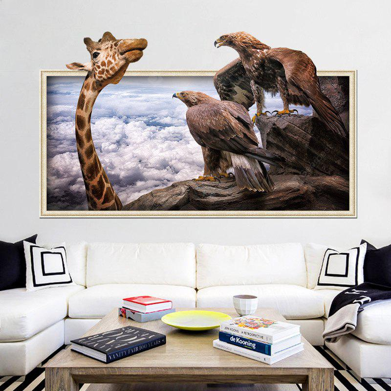 Home Decoration 3D Giraffe Eagle Removable Wall Stickers for Wall Decor