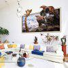 Home Decoration 3D Giraffe Eagle Removable Wall Stickers for Wall Decor - COLORMIX