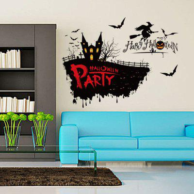 Halloween Decoration Horror Witch Removable Wall Stickers for Wall DecorWall Stickers<br>Halloween Decoration Horror Witch Removable Wall Stickers for Wall Decor<br><br>Function: Decorative Wall Sticker<br>Material: Vinyl(PVC)<br>Package Contents: 1 x Sticker<br>Package size (L x W x H): 50.00 x 5.00 x 5.00 cm / 19.69 x 1.97 x 1.97 inches<br>Package weight: 0.2000 kg<br>Product size (L x W x H): 50.00 x 70.00 x 0.10 cm / 19.69 x 27.56 x 0.04 inches<br>Product weight: 0.1500 kg<br>Quantity: 1<br>Subjects: Holiday<br>Suitable Space: Living Room,Dining Room,Kids Room,Hallway<br>Type: Plane Wall Sticker