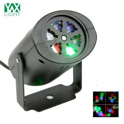 Buy BLACK YWXLight NO Waterproof LED Projection Lights Snowflake Christmas Light AC 85 265V for $13.90 in GearBest store