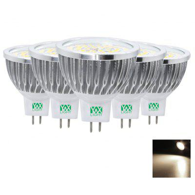 5PCS YWXLight MR16 2835SMD LED Lampadina Riflettore Lampadine AC 12V DC AC