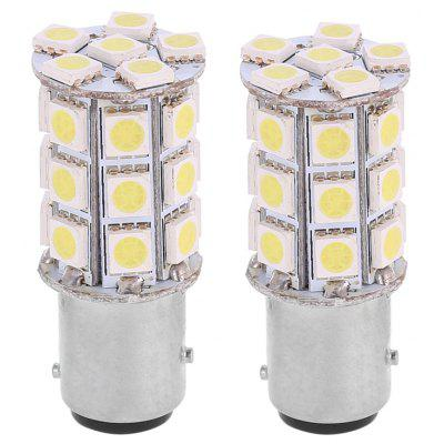 2PCS 1157 12V 13W 6000K 27 - 5050 LED Car Brake White Light