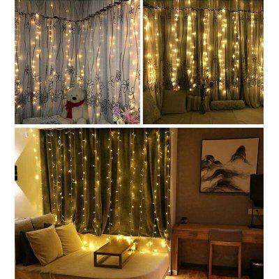 Buy WARM WHITE LIGHT KWB LED Window Curtain Icicle Lights 300 LED String Fairy Lights 118.11x118.11 Inch 8 Modes White Christmas / Thanksgiving / Wedding / Party Backdrops for $18.99 in GearBest store