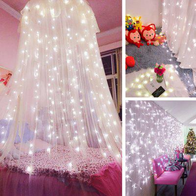 KWB LED Window Curtain Icicle Lights 300 LED String Fairy Lights 118.11 x 118.11 Inch 8 Modes White Christmas / Thanksgiving / Wedding / Party BackdropsNovelty lighting<br>KWB LED Window Curtain Icicle Lights 300 LED String Fairy Lights 118.11 x 118.11 Inch 8 Modes White Christmas / Thanksgiving / Wedding / Party Backdrops<br><br>Available Light Color: Blue,Warm White,White<br>Body Color: Transparent<br>Features: Energy Saving<br>Function: Studio and Exhibition Lighting, Outdoor Lighting, Commercial Lighting, Home Lighting<br>Holder: Other<br>Lifespan: 30000<br>Luminous Flux: 4-5<br>Output Power: 15W<br>Package Contents: 1 x Led Curtain Light<br>Package size (L x W x H): 15.00 x 10.00 x 15.00 cm / 5.91 x 3.94 x 5.91 inches<br>Package weight: 0.5830 kg<br>Product size (L x W x H): 300.00 x 30.00 x 300.00 cm / 118.11 x 11.81 x 118.11 inches<br>Product weight: 0.3000 kg<br>Sheathing Material: Plastic<br>Voltage (V): AC110-220