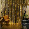 KWB LED Window Curtain Icicle Lights 300 LED String Fairy Lights 118.11 x 118.11 Inch 8 Modes White Christmas / Thanksgiving / Wedding / Party Backdrops - WARM WHITE LIGHT