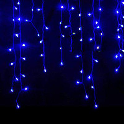 KWB LED Christmas Lights Outdoor Decoration Lights 3.5m Droop  Led Curtain Icicle String Lights White / Warm White / RGB