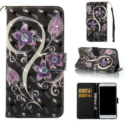 Peacock Flower 3D Painted PU Phone Case for Huawei P8 Lite 2017
