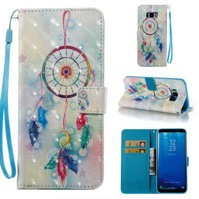 Buy COLORMIX Feather Wind Chimes 3D Painted PU Phone Case for Samsung Galaxy S8 plus for $4.79 in GearBest store