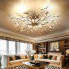 ZUOGE Post modern creative iron crystal ceiling lamp -110V-220V~ - SILVER