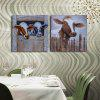 Buy HAPPYART Canvas Print Painting Modern Colorful Animals Cow Home Decoration / Wall Art COLORMIX