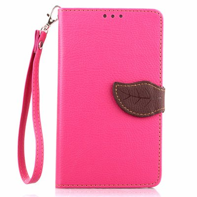 Love Leaf Card Lanyard Pu Leather para Samsung I9300