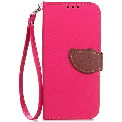 Love Leaf Card Lanyard Pu Leather para Samsung G355H