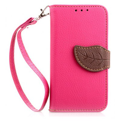Love Leaf Card Lanyard Pu Leather para Samsung 9190