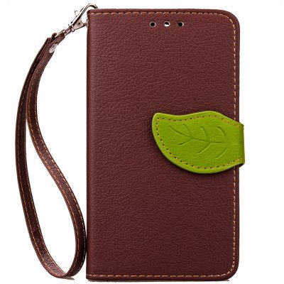 Love Leaf Card Lanyard Pu Leather para Samsung G386