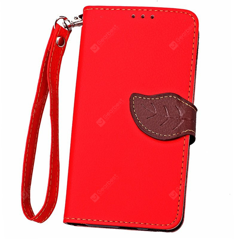 Love Leaf Card Lanyard Pu Leather pour Samsung G386