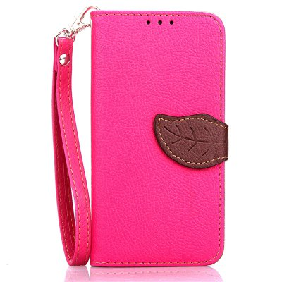 Love Leaf Card Lanyard Pu Leather para Samsung G530