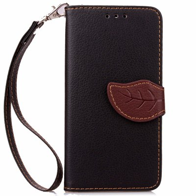 Love Leaf Card Lanyard Pu Leather pour Samsung J3