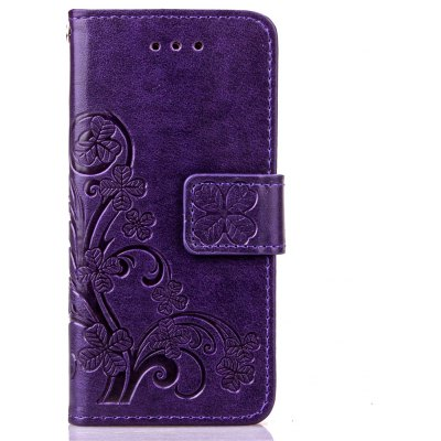 Lucky Clover Holster Leaf Card Lanyard Pu Leather pour iPod Touch 5 / Touch 6