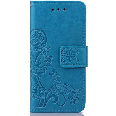 Lucky Clover Holster Leaf Card Lanyard Pu Leather for  iPod Touch 5 / Touch 6