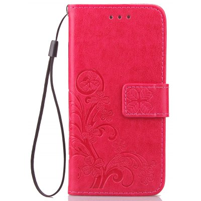 Lucky Clover Holster Leaf Card Lanyard Pu Leather for iPhone 6s