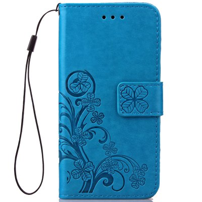 Lucky Clover Holster Leaf Card Lanyard Pu Leather for iPhone 6S Plus