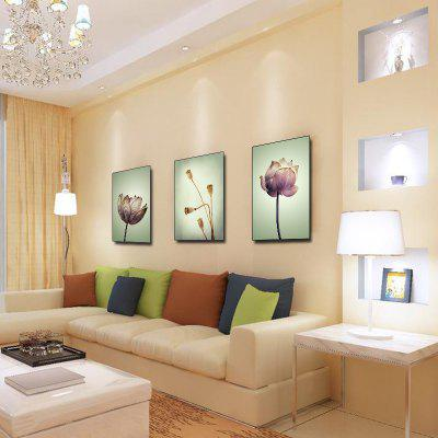Colourful Three Chinese Paintings for Home Living Room