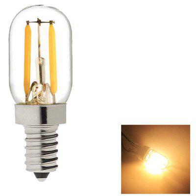SUPli 2W Edison Bulb Vintage Tubular Night Light Bulb E14 Base LED Filament Candelabra Bulbs Ultra Warm White 2700K 20 W