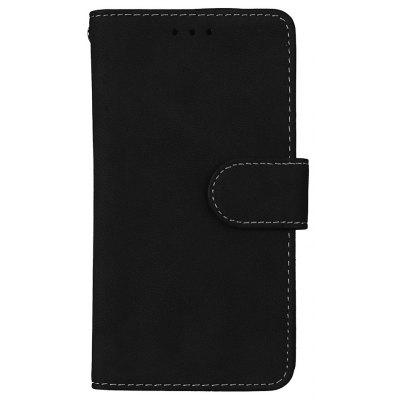 Wkae US Version Grind Arenaceous PU Leather Flip Stand Case with Wallet and Three Card Slots for LG LV3 K8 2017