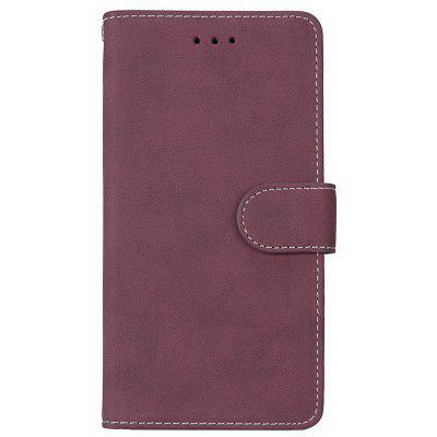 Wkae Grind Arenaceous PU Leather Flip Stand Case with Wallet and Three Card Slots for LG STYLUS 3
