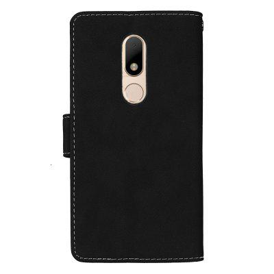 Wkae Grind Arenaceous PU Leather Flip Stand Case with Wallet and Three Card Slots for MOTO M wkae forest series colorful paiting litchi texture premium pu leather horizontal flip stand wallet case cover with card slots for iphone 7 plus and 8 plus