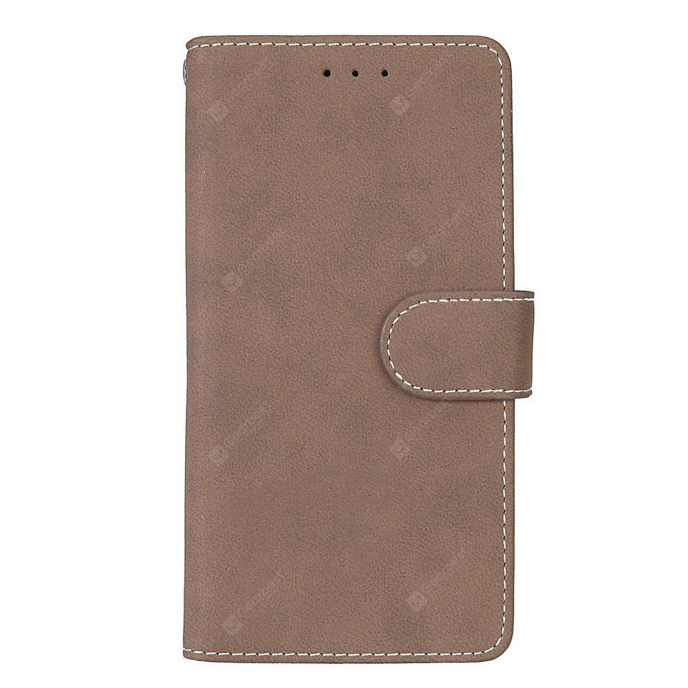 Wkae Grind Arenaceous PU Leather Flip Stand Case with Wallet and Three Card Slots for MOTO M