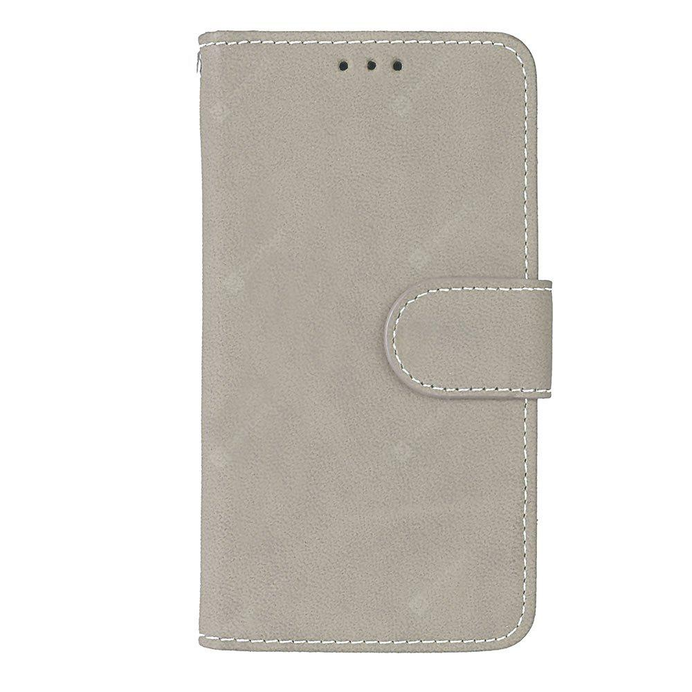 Wkae Grind Arenaceous PU Leather Flip Stand Case with Wallet and Three Card Slots for Samsung Galaxy A3 2017