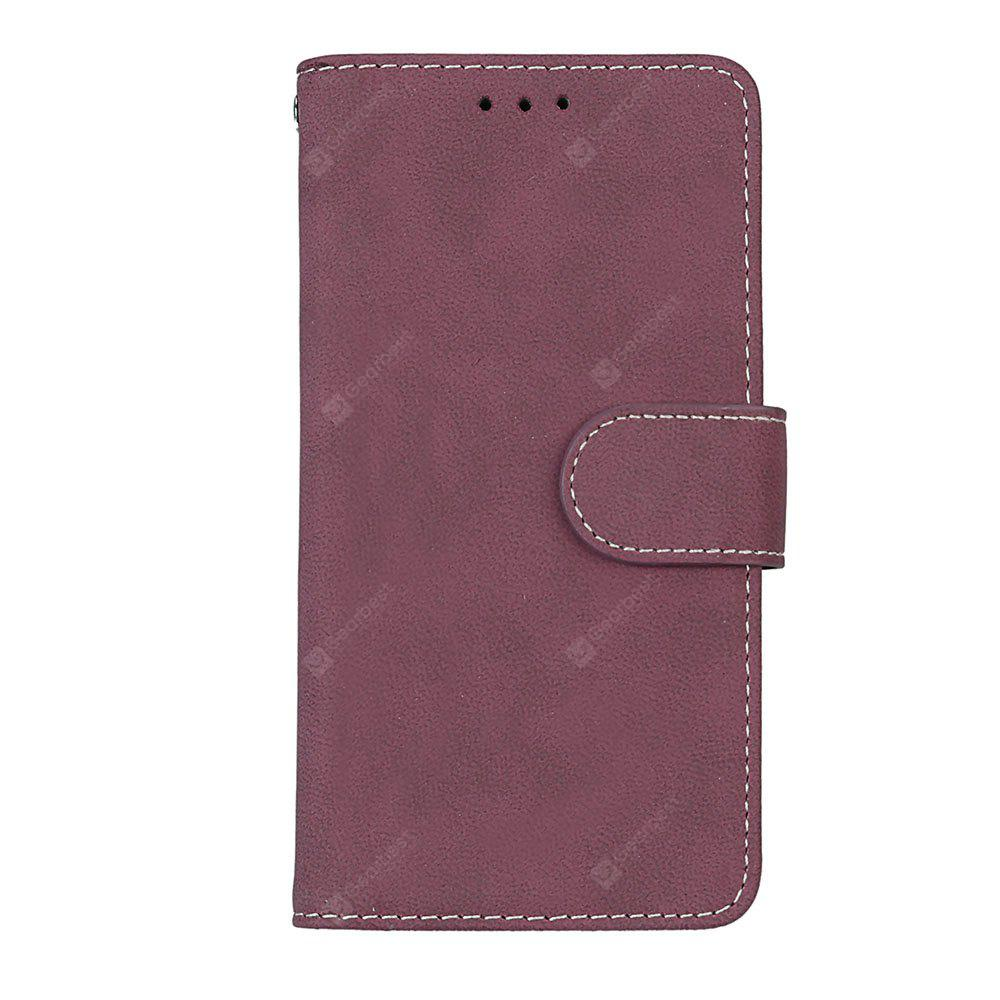 Wkae Grind Arenaceous PU Leather Flip Stand Case with Wallet and Three Card Slots for Samsung J3 2017
