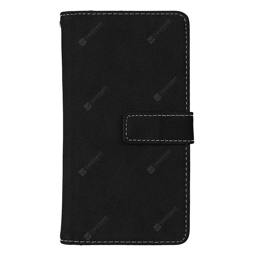 Wkae Grind Arenaceous PU Leather Flip Stand Case with Wallet and Nine Card Slots for HUAWEI P10 LITE