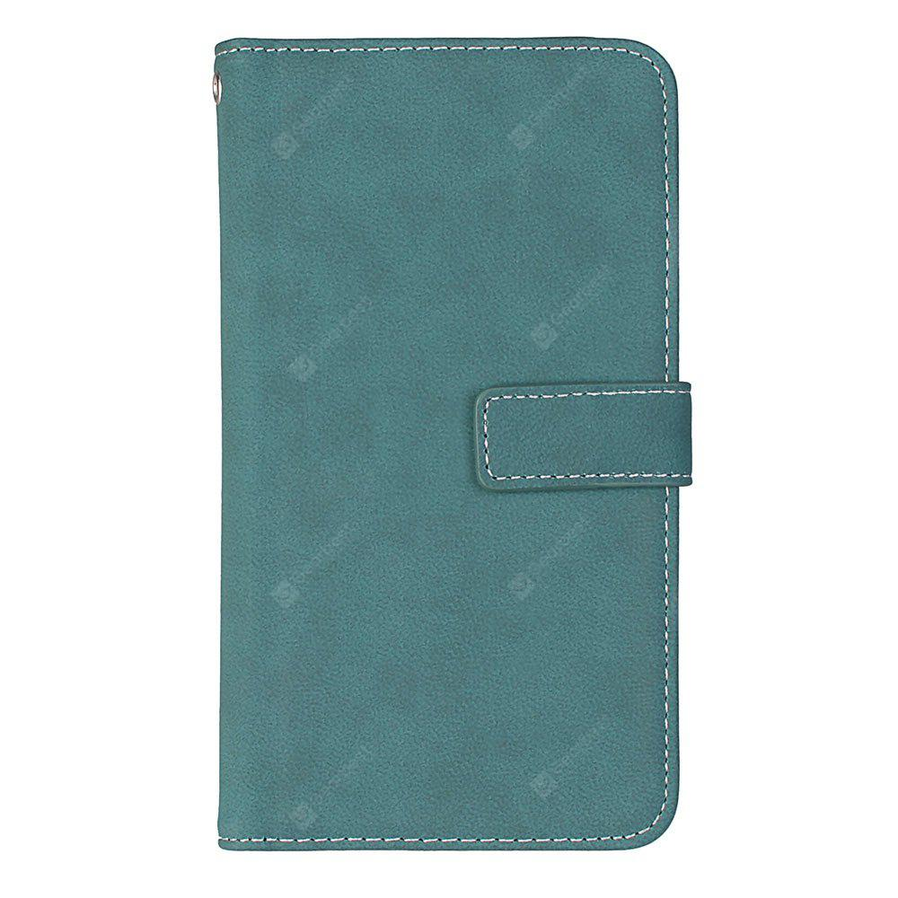 Wkae Grind Arenaceous PU Leather Flip Stand Case with Wallet and Nine Card Slots for iPhone 6S Plus