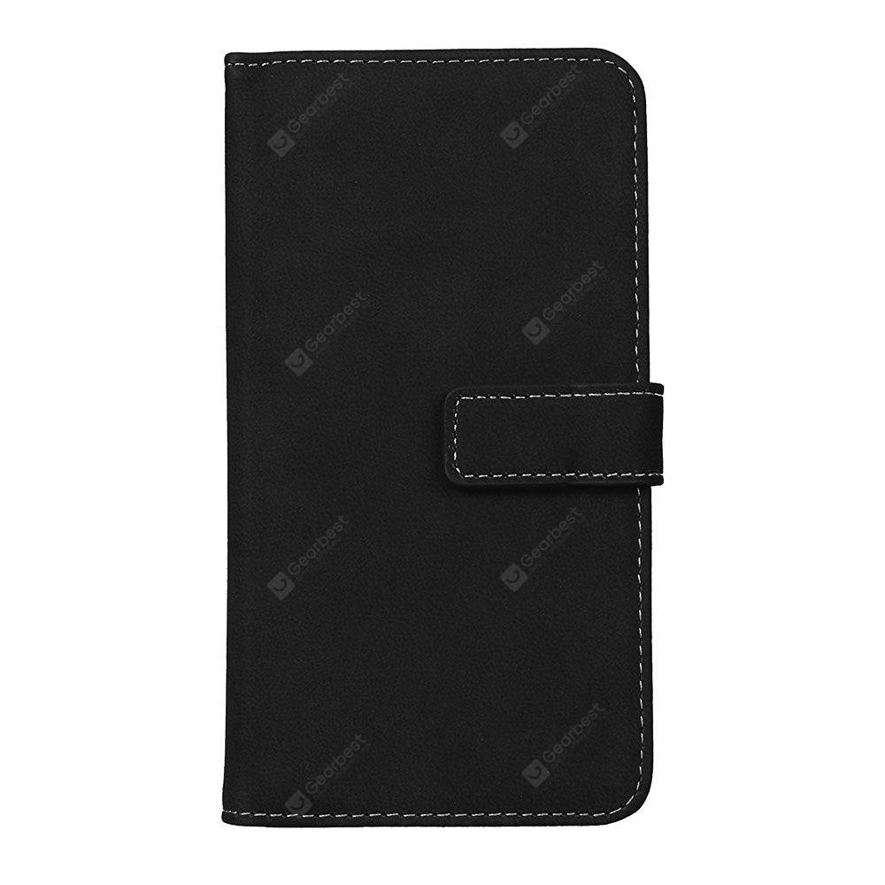 Wkae Grind Arenaceous PU Leather Flip Stand Case with Wallet and Nine Card Slots for LG G4