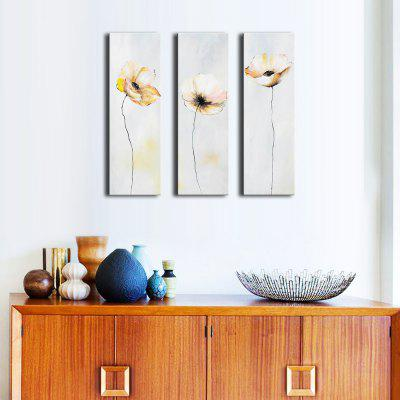 Buy LIGHT GRAY ART Larger Hand Painted Abstract Flower Oil Painting for Living Room for $71.93 in GearBest store